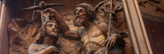Johannes tauft Jesus | St. Anna Altar im Ostchor