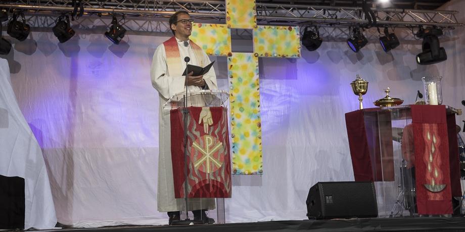 Diakon Andreas Lucke von der Evangelischen Jugend Augsburg   Foto: I. Hoffmann
