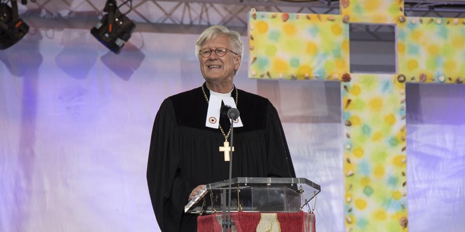Landesbischof Heinrich Bedford-Strohm hält die Predigt.   Foto: I. Hoffmann