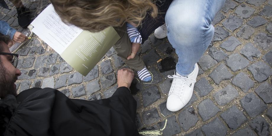 Standhaft Spuren hinterlassen - die Aktion zum Mitmachen   Foto: I. Hoffmann