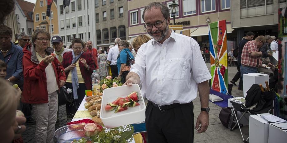 Pfarrer Dirk Dempewolf, Christuskirche Haunstetten.   Foto: I. Hoffmann