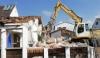 Abbruch des alten Gemeindehauses in Mering