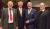 (v.li.) Prof. Bernd Oberdorfer, Regionalbischof i.R. Dr. Ernst Öffner, Alt OB Dr. Peter Menacher, Diözesanadministrator Prälat Dr. Bertram Meier