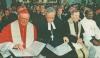 v.li.:  Kardinal Edward Cassidy, Landesbischof Christian Krause, Bischof Walter Kasper, Ishmael Noko | Foto: Schöllhorn
